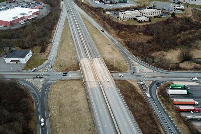 PennDot will be opening bids later this month for an estimated $23.7 million construction project at the Shrewsbury Exit 4 on Interstate 83, Monday, January 7, 2019John A. Pavoncello photo