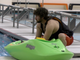 A member of the Conewago Canoe Club preps his boat for a pool session Central York High School on December 27,2018.