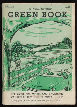 The cover of the 1956 Green Book Directory.