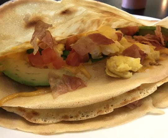 A California breakfast crêpe from Kaffe Crepe in the Reno Costco center.