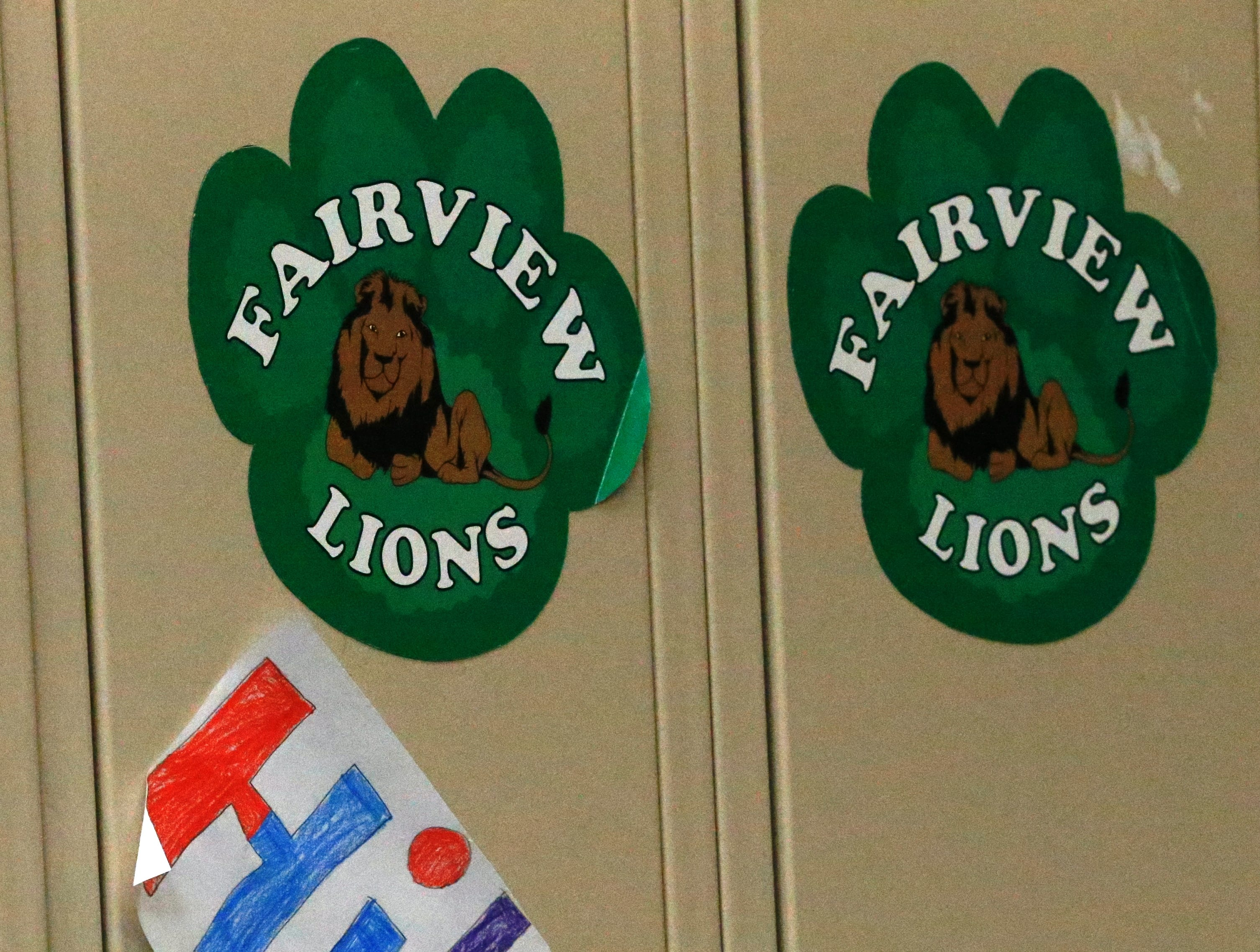 A picture hangs on a locker at Fairview Elementary School in Richmond drawn by the 'Josh Squad,' a store created by fourth-graders Javeonte Johnson and D. J. Allen to raise money for an Xbox One for classmate Joshua Idle, who was involved in an accident and lost his mom in Dec. 2018.