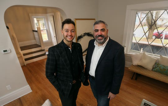Davide, left, and Sal Salafia buy,  renovate and sell houses throughout the community like this one on Crosman Terrace in Rochester.