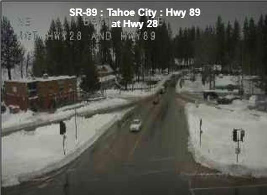 Highway 89 in Tahoe City