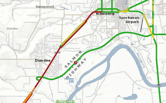 A crash has closed the Newberg-Dundee Bypass Monday morning.