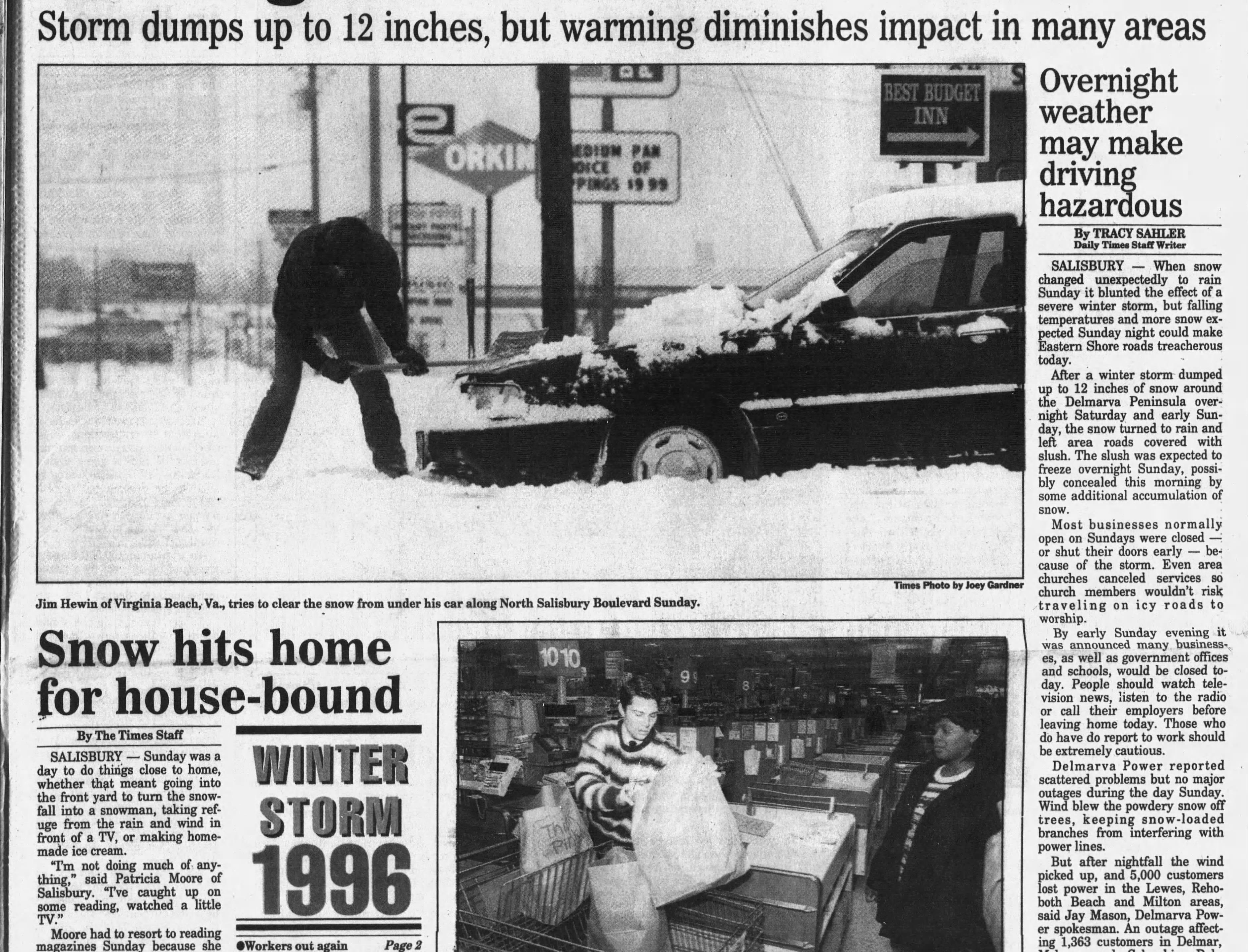 """On Jan 8, 1996 Salisbury had 12.5"""" of snowfall."""