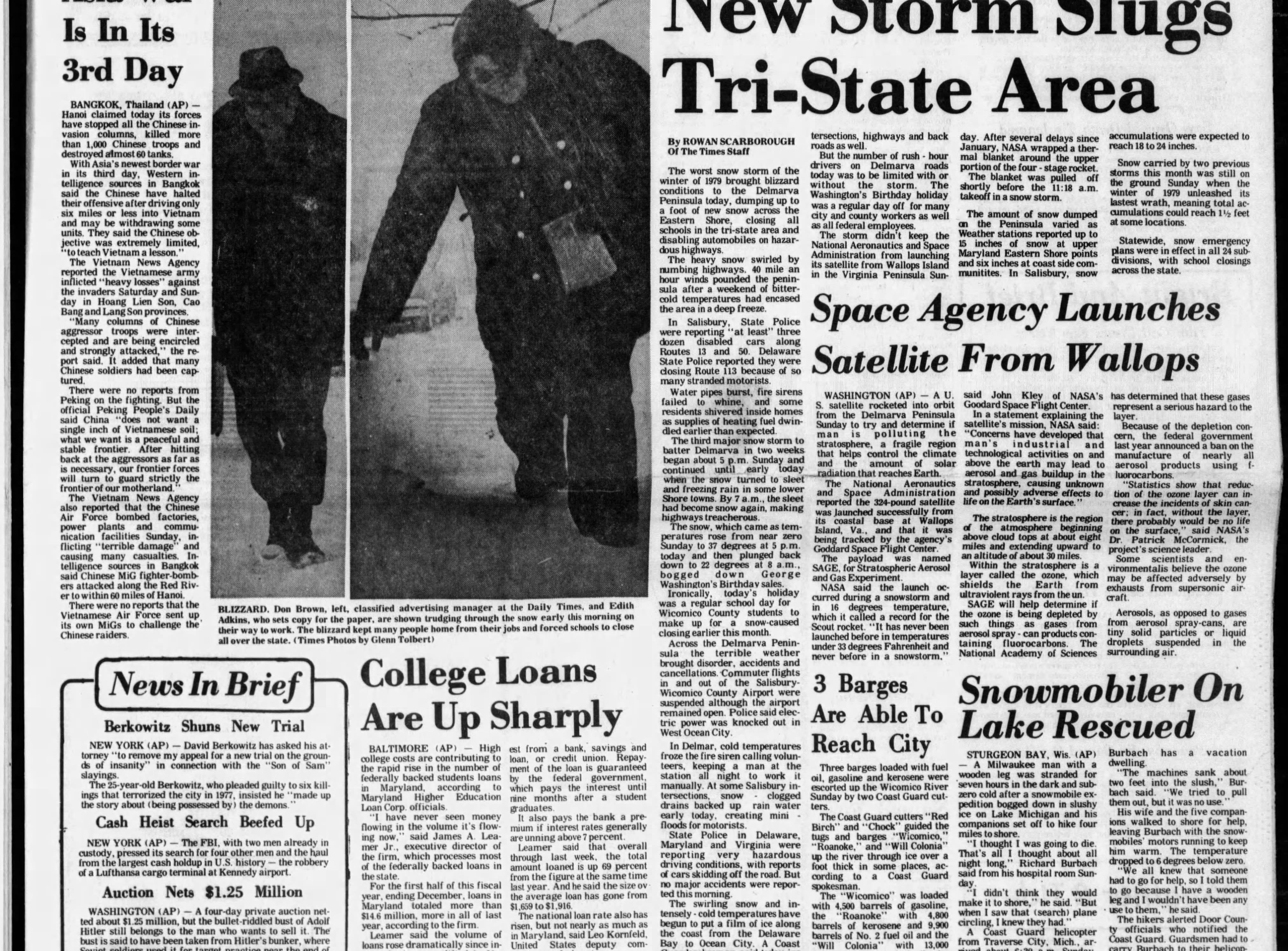 "Feb 18-19, 1979 Salisbury received 10"" of snowfall."