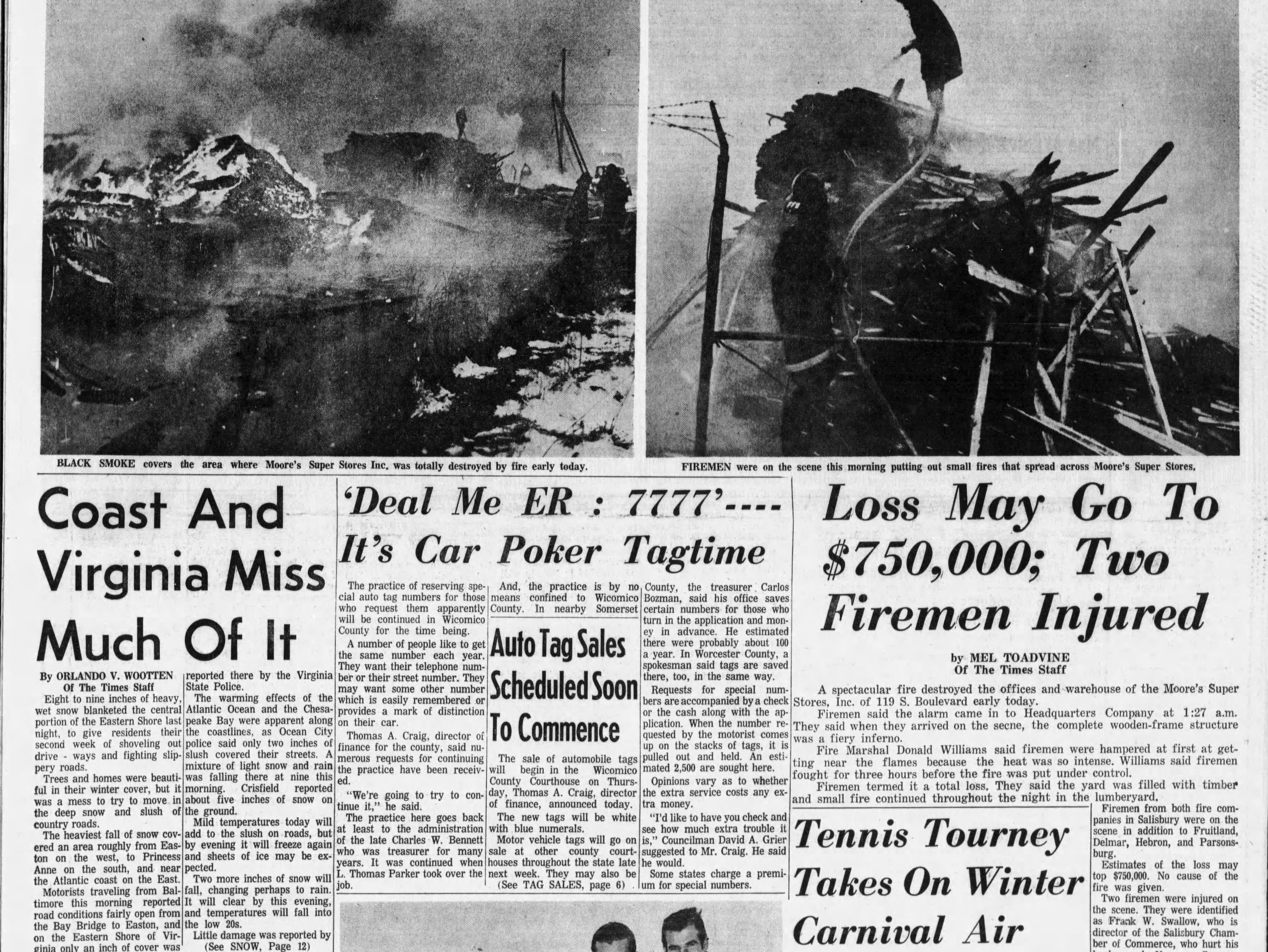 """On Feb 18, 1967, Salisbury had 11"""" of snowfall."""