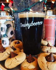 Peanut Butter Blossom cookie stout by Dewey Beer Co.