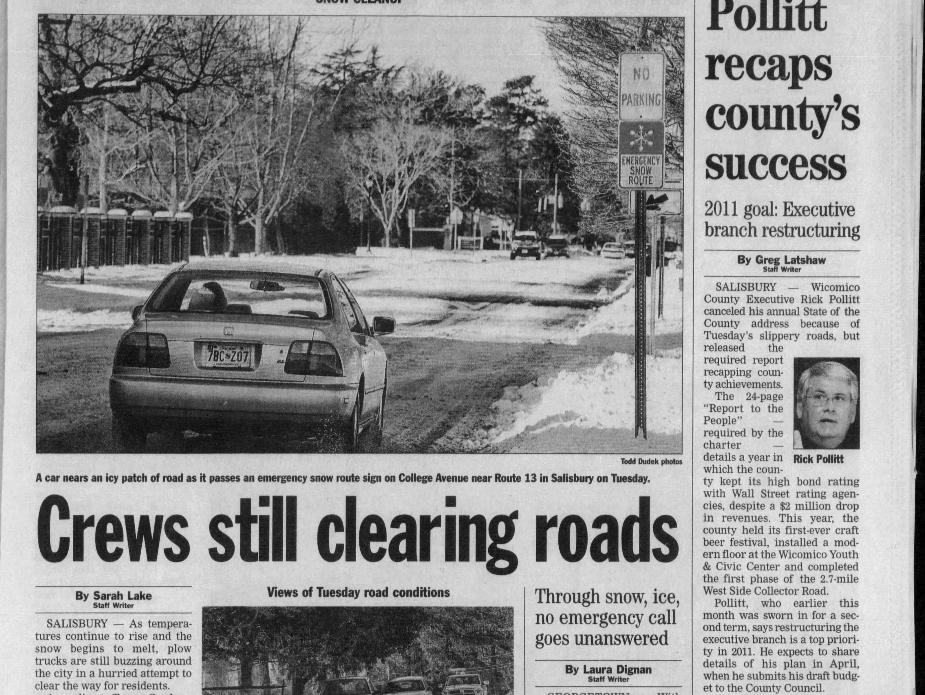 "Salisbury had 10.4"" of snowfall from Dec. 26-27th, 2010."
