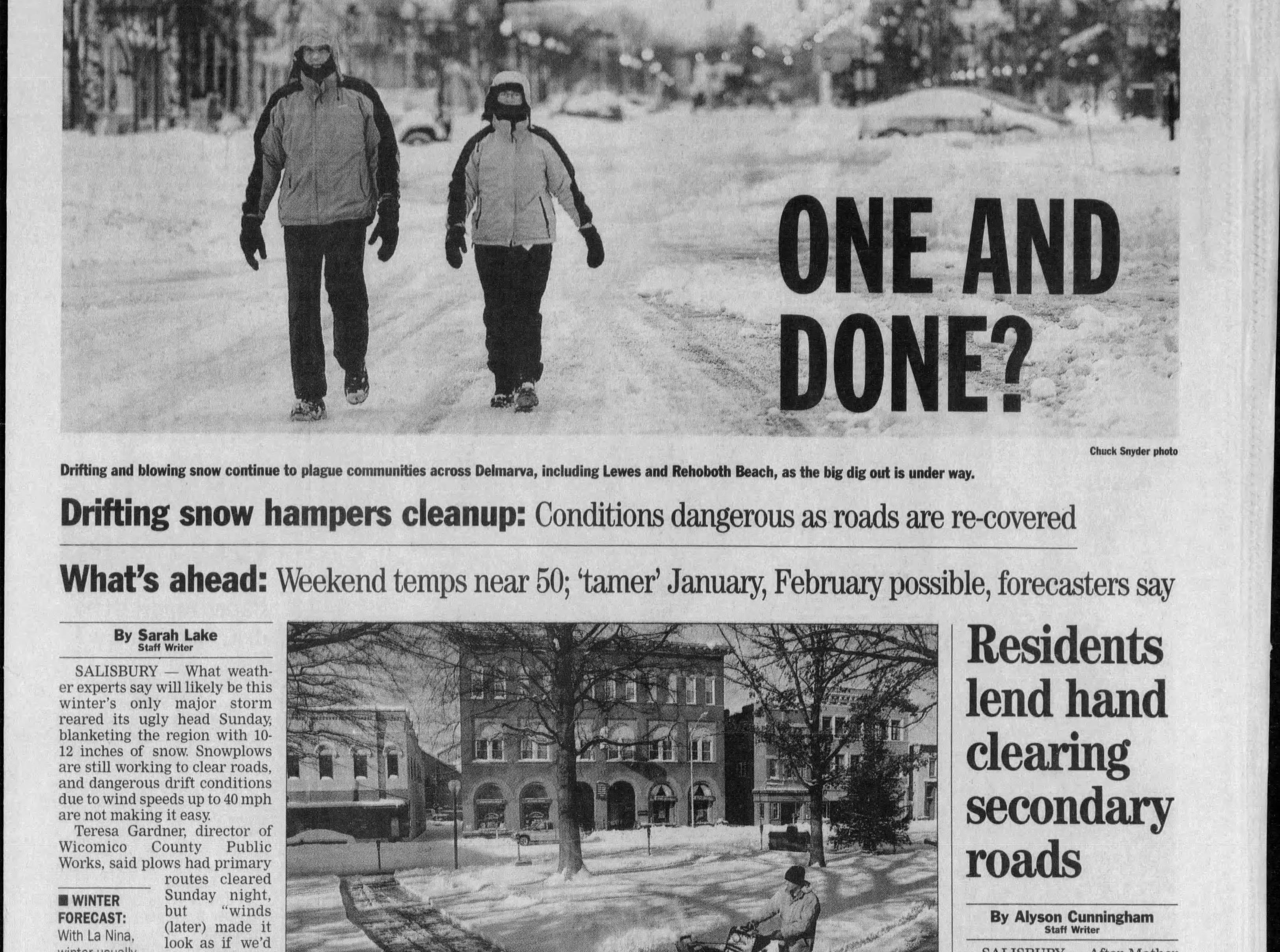 """Dec 28, 2010, Salisbury saw 10.4"""" of snowfall."""