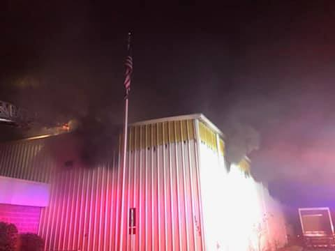The Salisbury Fire Department posted photos on Facebook Monday of an early morning fire at the Quality Linen Service building on the 1700 block of Westwood Drive.
