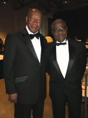 U.S. Marshal Henry Whitehorn and Lynn Braggs at Mayor's Gala.