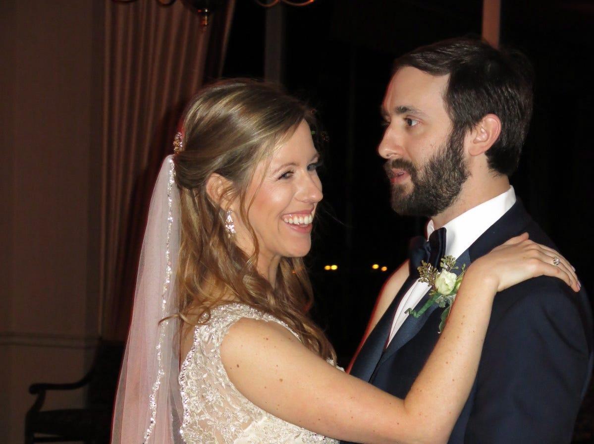 William Guston Hall and  Kristen Michelle Rollo wedding reception was Saturday at Petroleum Club.