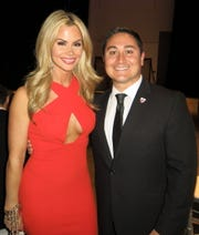 Megan Chavez and hubby, Caddo Commissioner Mario Chavez, at Mayor's Gala.