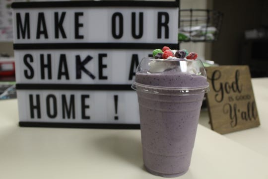 Southern Nutrition health food store assists customers with healthy living and eating practices. Pictured: A Captain Crunch low-calorie shake inspired by the breakfast cereal.