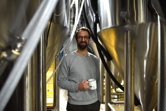 Joel Thompson, CEO of Fernson Brewing Company, poses at Fernson Brewery, Monday, Jan. 7, 2019 in Sioux Falls, S.D.