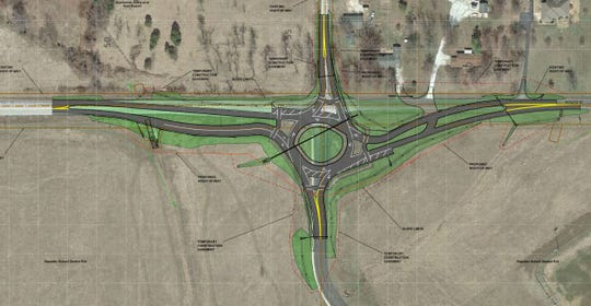 A rendering generated by the Missouri Department of Transportation shows the location of a roundabout planned near Republic High School.