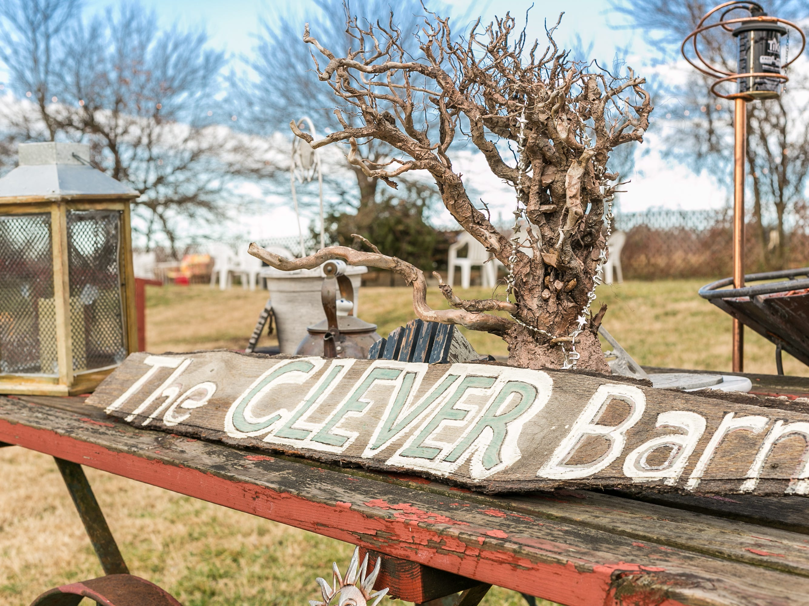 Laura and Randy Walden with the Clever Barn in Clever on Jan. 4, 2019.