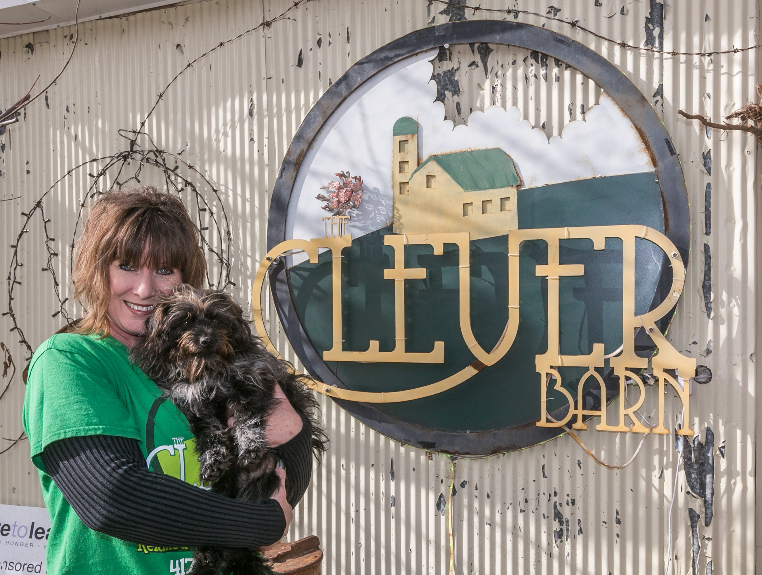 Laura Walden and Pepper outside of the Clever Barn on January 4, 2019.