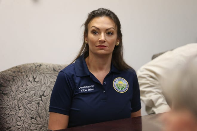 Florida Commissioner of Agriculture and Consumer Services Nikki Fried learns about the Tallahassee Second Harvest Food Bank as a part of her transition into her new role, Monday, Jan. 7, 2019.