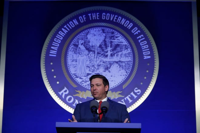 Gov. speaks during the Bold Vision for a Bright Future: Thought Leaders Luncheon in the University Center Club at Florida State University Monday, Jan. 7, 2019.