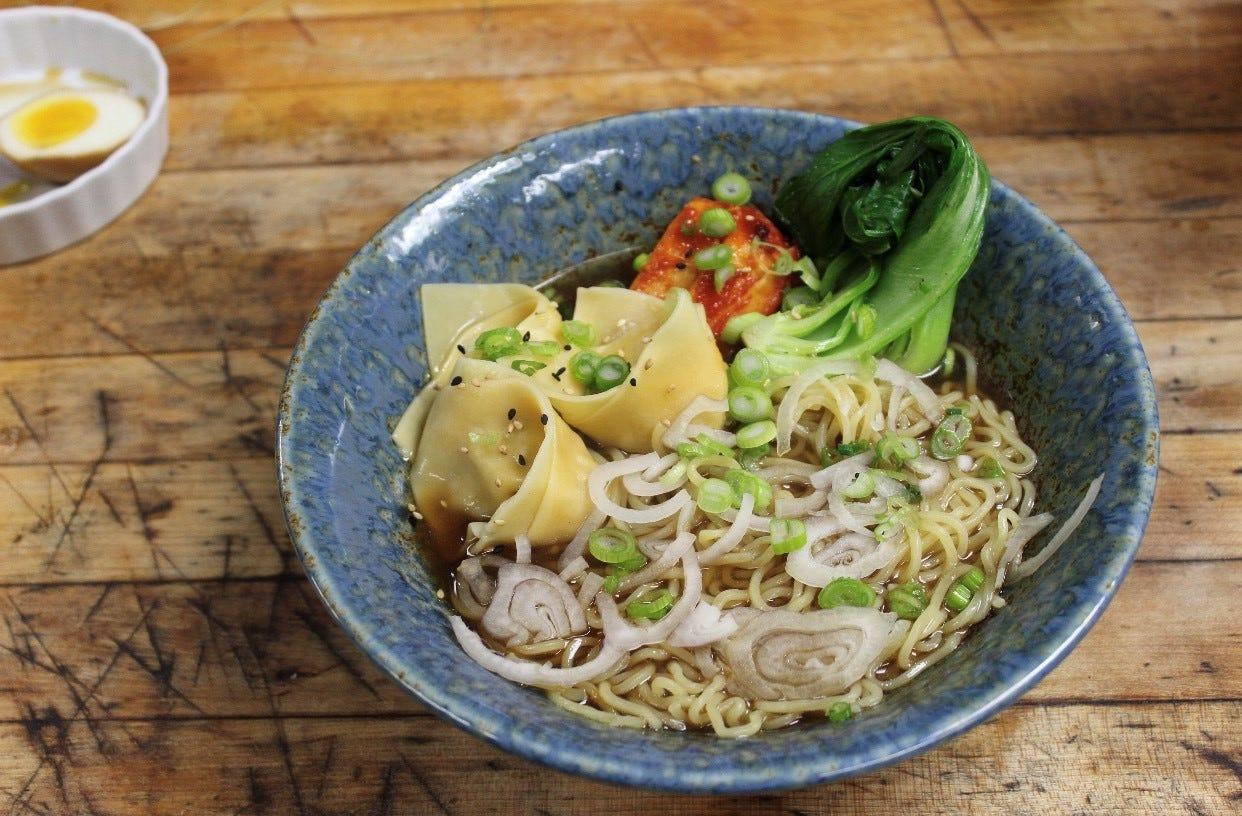 Wonton Noodle Soup at the new Downtown Ramen Bar.