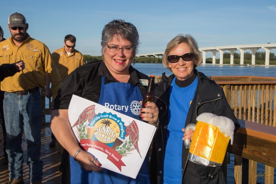Florida Craft Brew & Wingfest Committee members Lisa Gehin, left, and Sue Melton.