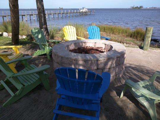 Great views of the lagoon are offered from the firepit area at the Tiki Bar and Grill in Sebastian.