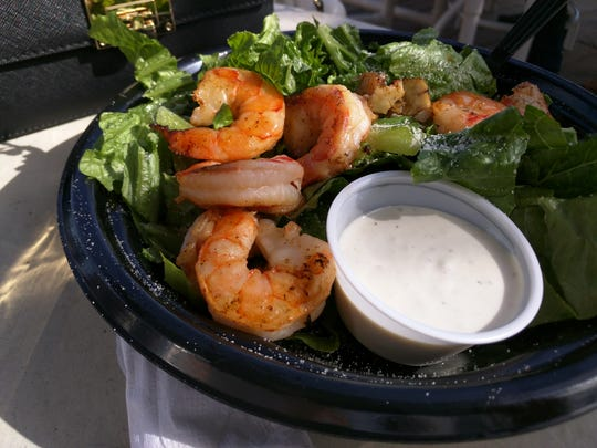 Tiki Bar And Grill Caesar Salad Crispy Crunchy Romaine with homemade Caesar Dressing