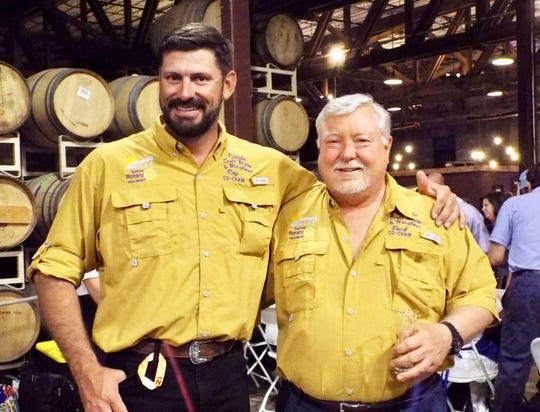 2018 Florida Craft Brew &Wingfest Chairs Ray Hooker, left, and Buck Vocelle.