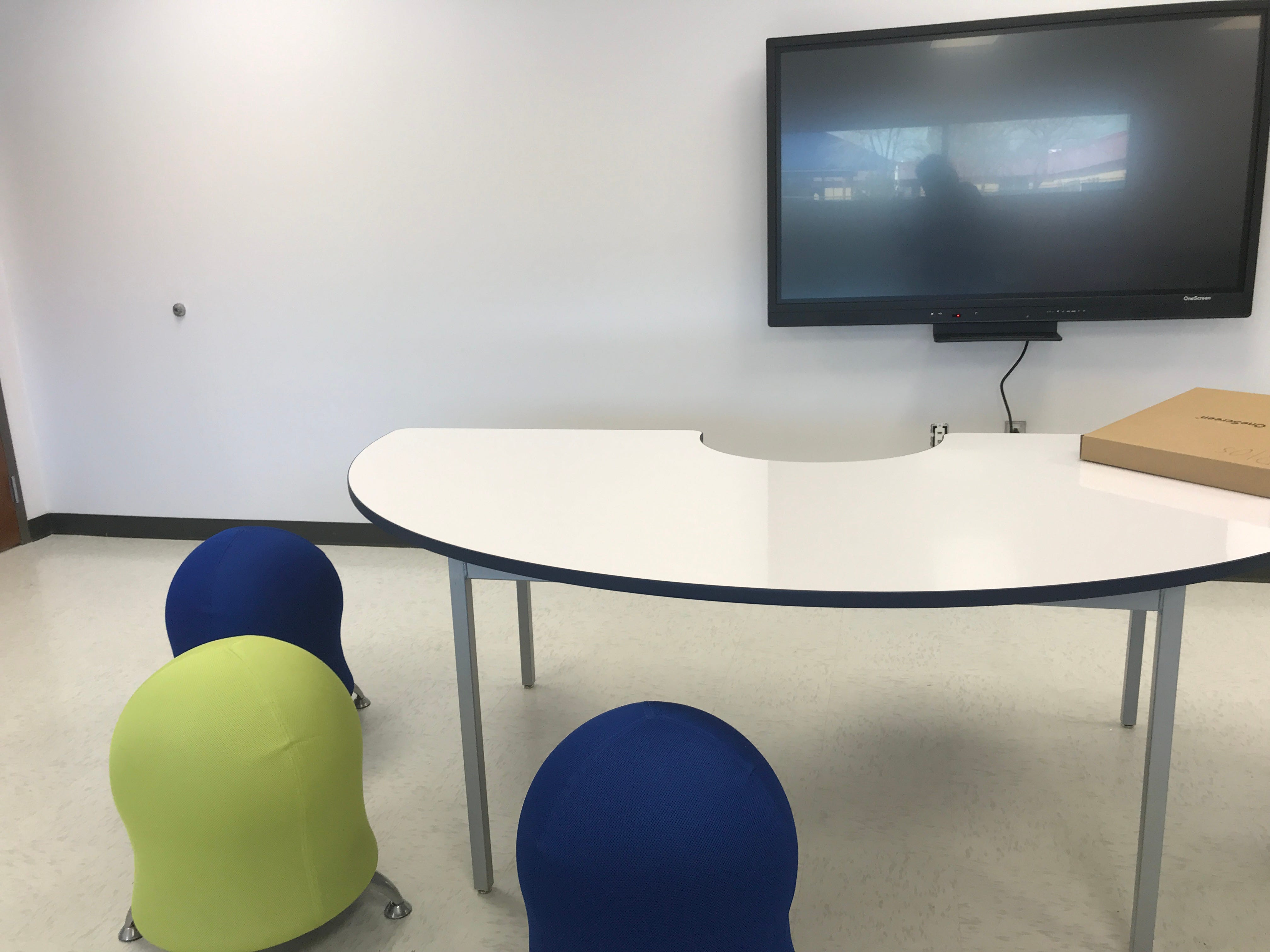 The Specialized Support Alternative Testing classroom which assist special needs students has state of the art technology and balance chairs.