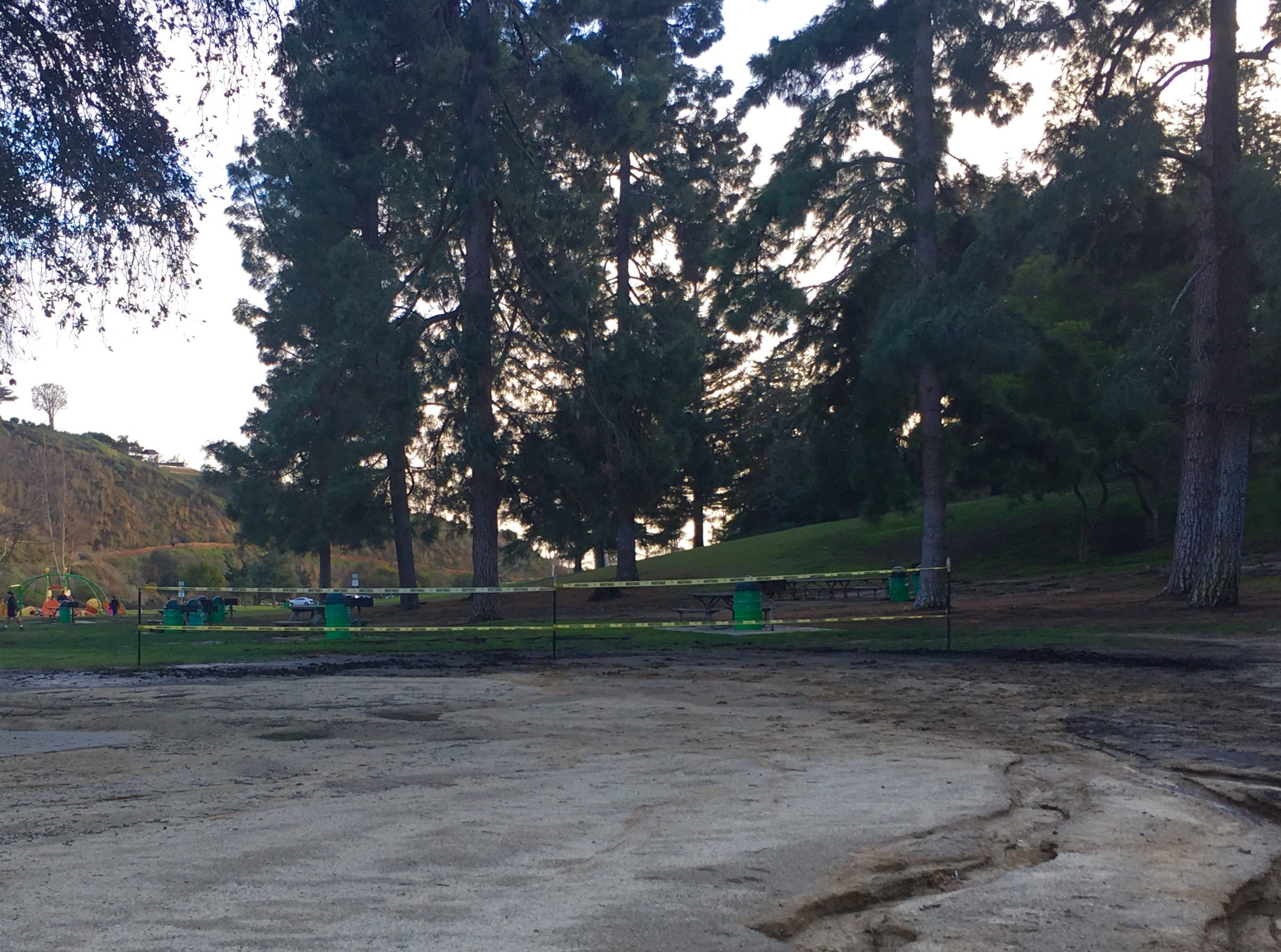 At Arroyo Verde Park in Ventura, an area that will soon be home to a playground is next to another play structure.