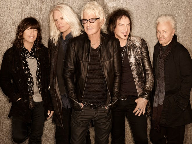REO Speedwagon will perform benefit concerts in Thousand Oaks on Jan. 12 and 13. Lead singer Kevin Cronin, center, has close ties to both the Woolsey Fire and the Borderline Bar & Grill. His home was evacuated during the fire, and sons Shane and Josh are in a band called Sir, Please, that had played at the Borderline just a few months prior to the Nov. 7 mass shooting that left 12 people dead.