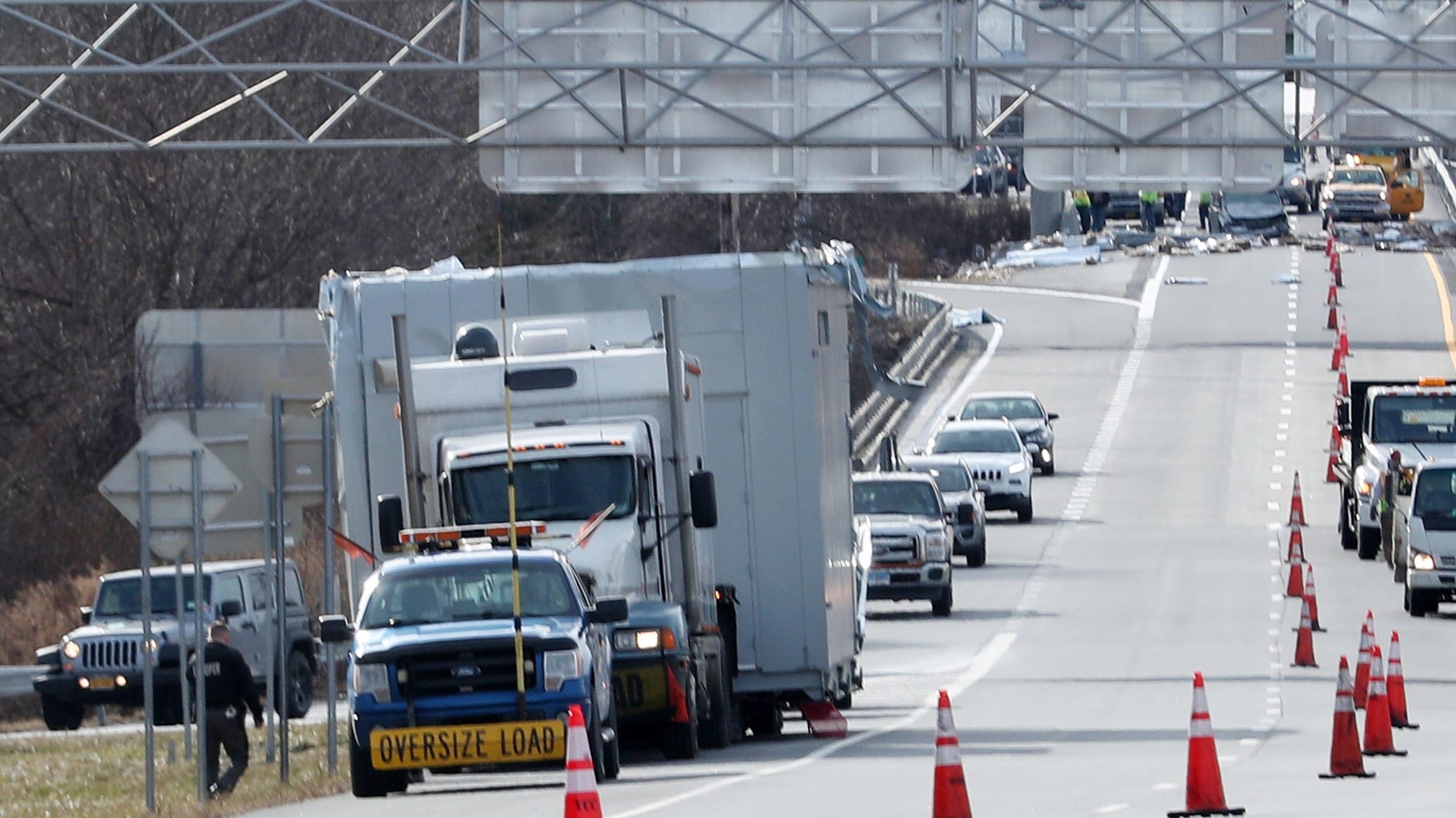 Video: Bridge strike shuts I-684 in Southeast