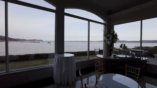 A dining room at The View on the Hudson in Piermont Jan. 7, 2019. The catering hall will be offering a brunch viewing party for the Tappan Zee Bridge demolition on Saturday morning.
