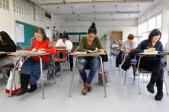 Students take courses at the Rockland BOCES for Adult Education in Nyack on Jan. 7, 2019.