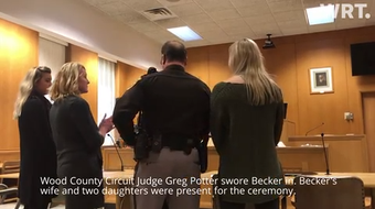 New Wood County Sheriff Shawn Becker took the oath of office Monday afternoon.
