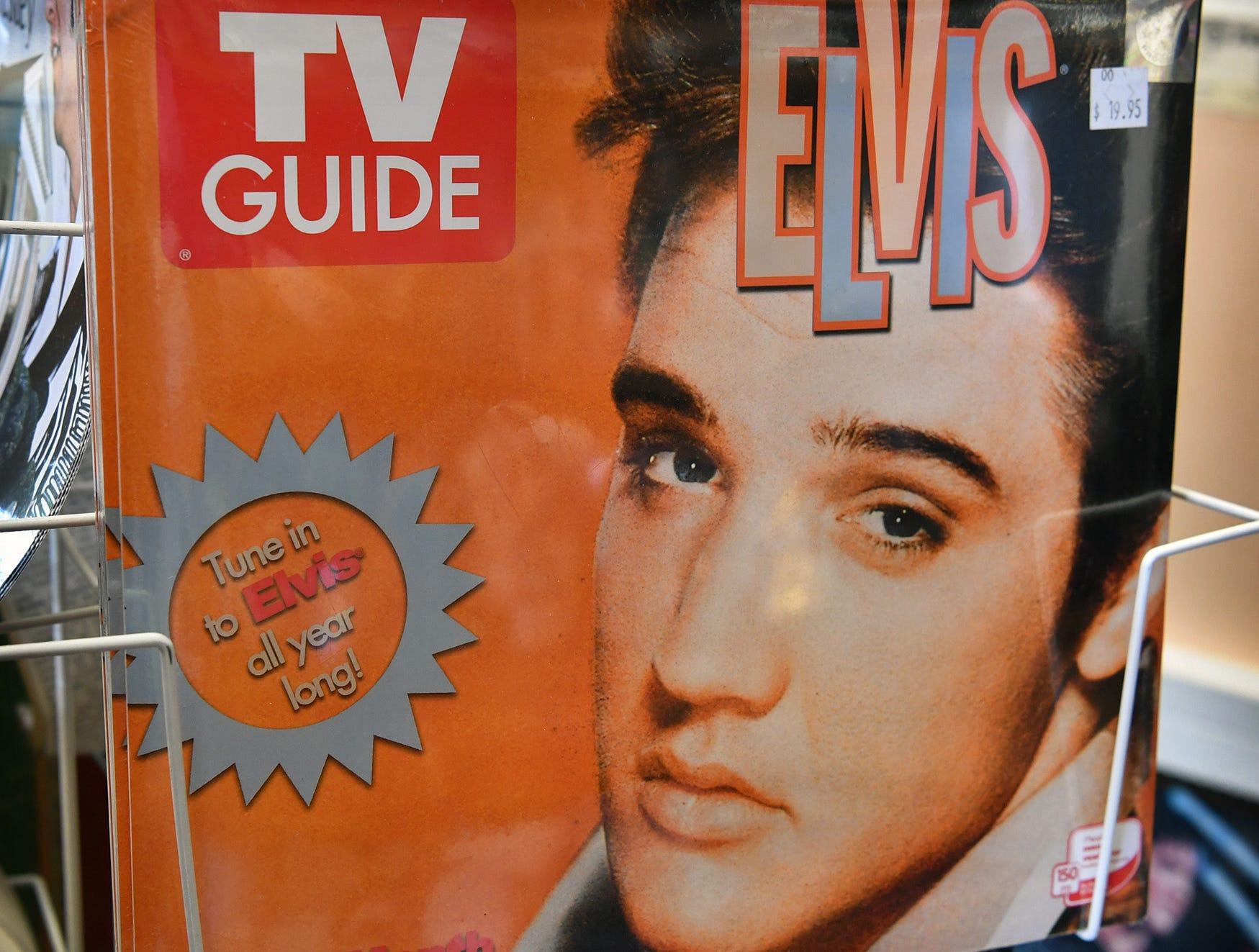 An Elvis Presley calendar at the Elvis Always Gifts and Collectibles store on 8th Street. His birthday is January 8 and Presley would have been 84 years old.