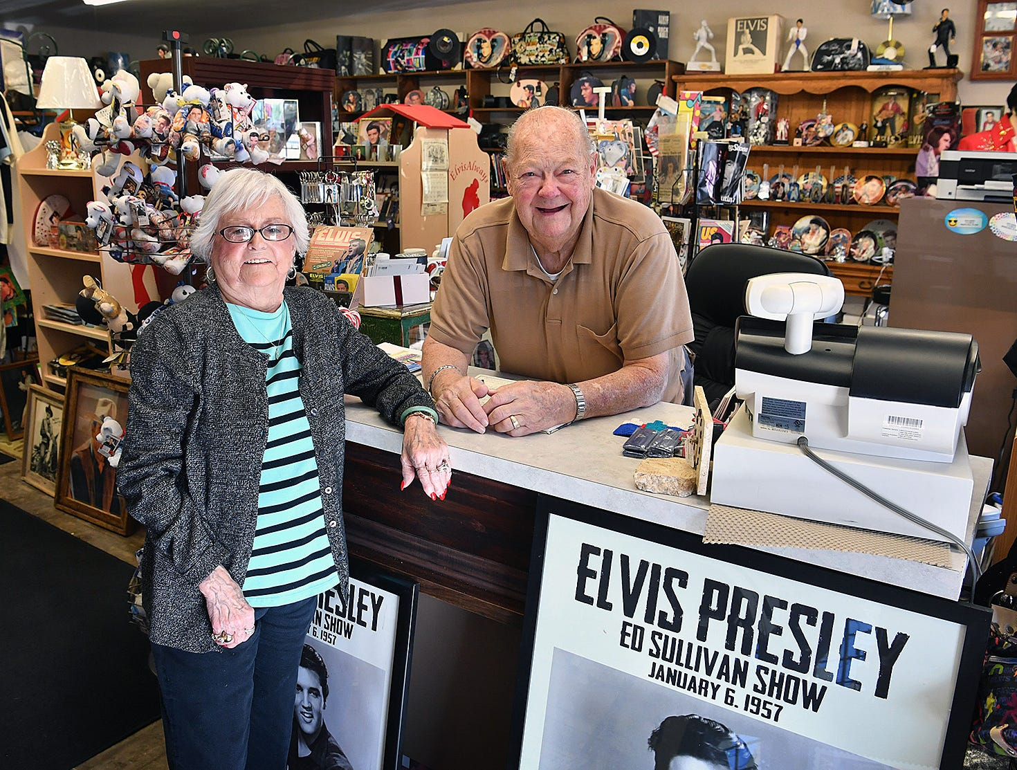 Margaret and Wally Waller own the Elvis Always Gifts and Collectibles store on 8th Street. January 8 is Elvis' birthday, he would have been 84 years old.