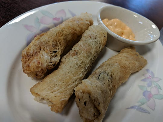Fried shrimp rolls at I Love Pho.