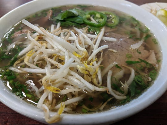 The Pho Dac Biet (combination noodle soup) at I Love Pho.