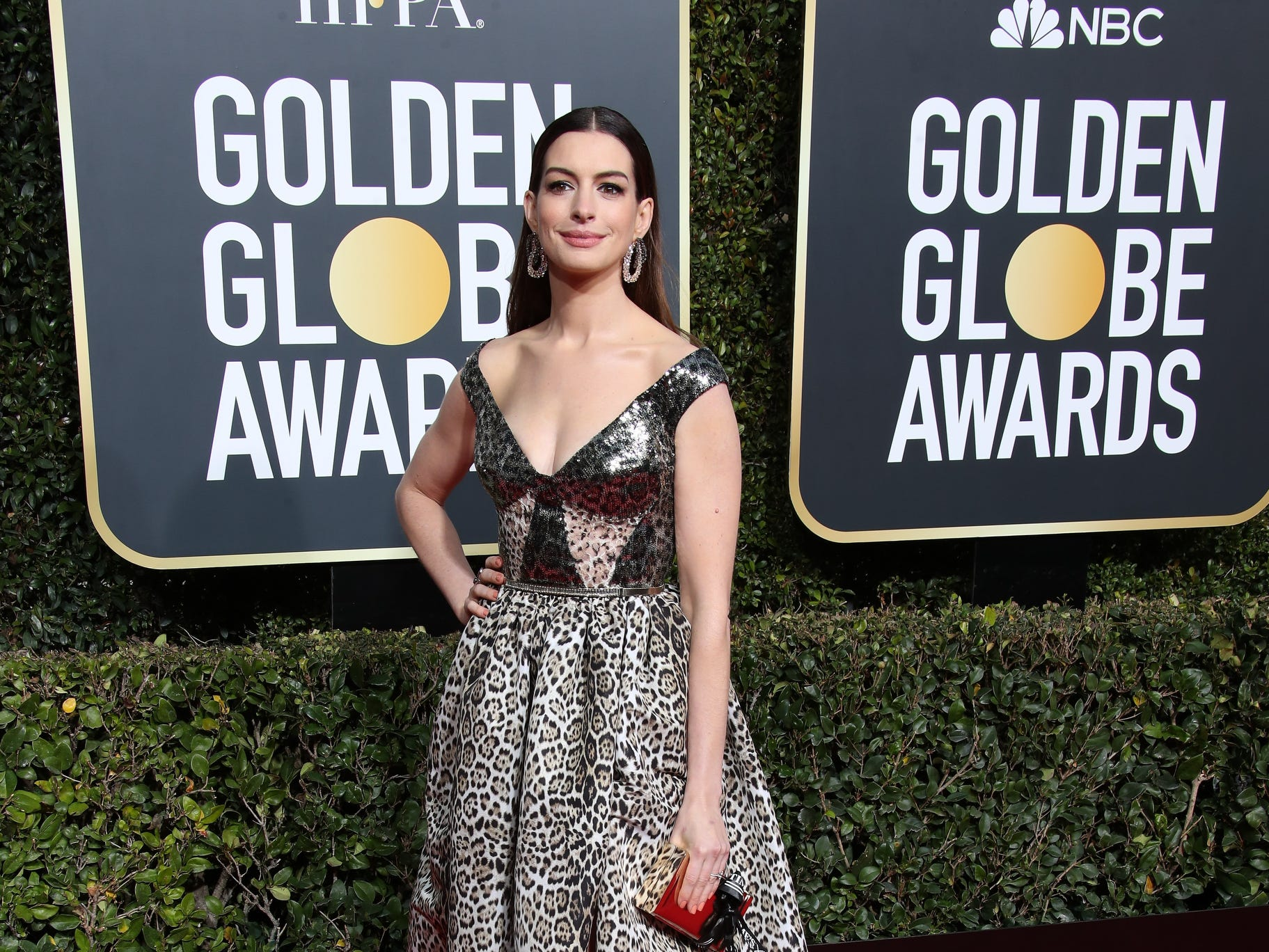 Anne Hathaway arrives