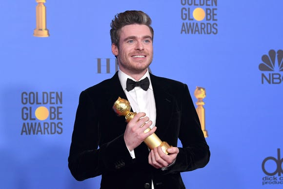 Richard Madden said he never expected to win a Golden Globe, but his dad made sure he had an acceptance speech ready just in case. Good thing the Scottish actor listened because he won Best Performance by an Actor in a Television Series Drama for 'Bodyguard.'