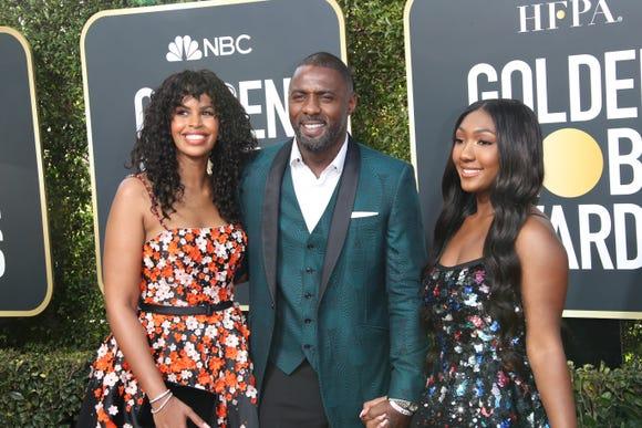 Idris Elba brought fiance Sabrina Dhowr, Idris Elba, and daughter Isan Elba.