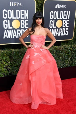 'The Good Place' star Jameela Jamil had a secret weapon at Sunday's Golden Globes: Pants.