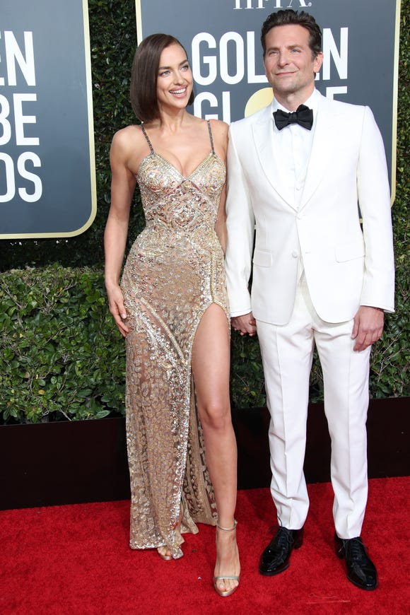 Irina Shayk, left, and Bradley Cooper