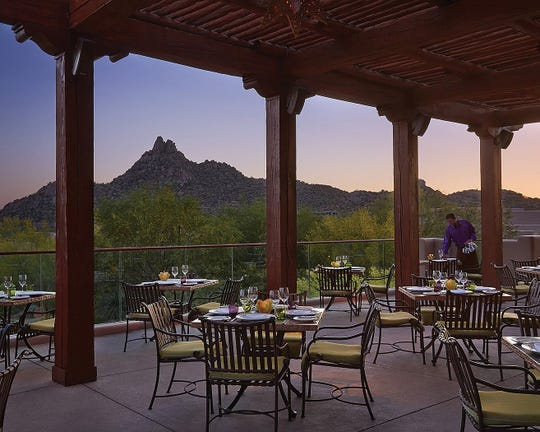 Enjoy desert vistas and contemporary Spanish food at Talavera in Scottsdale.