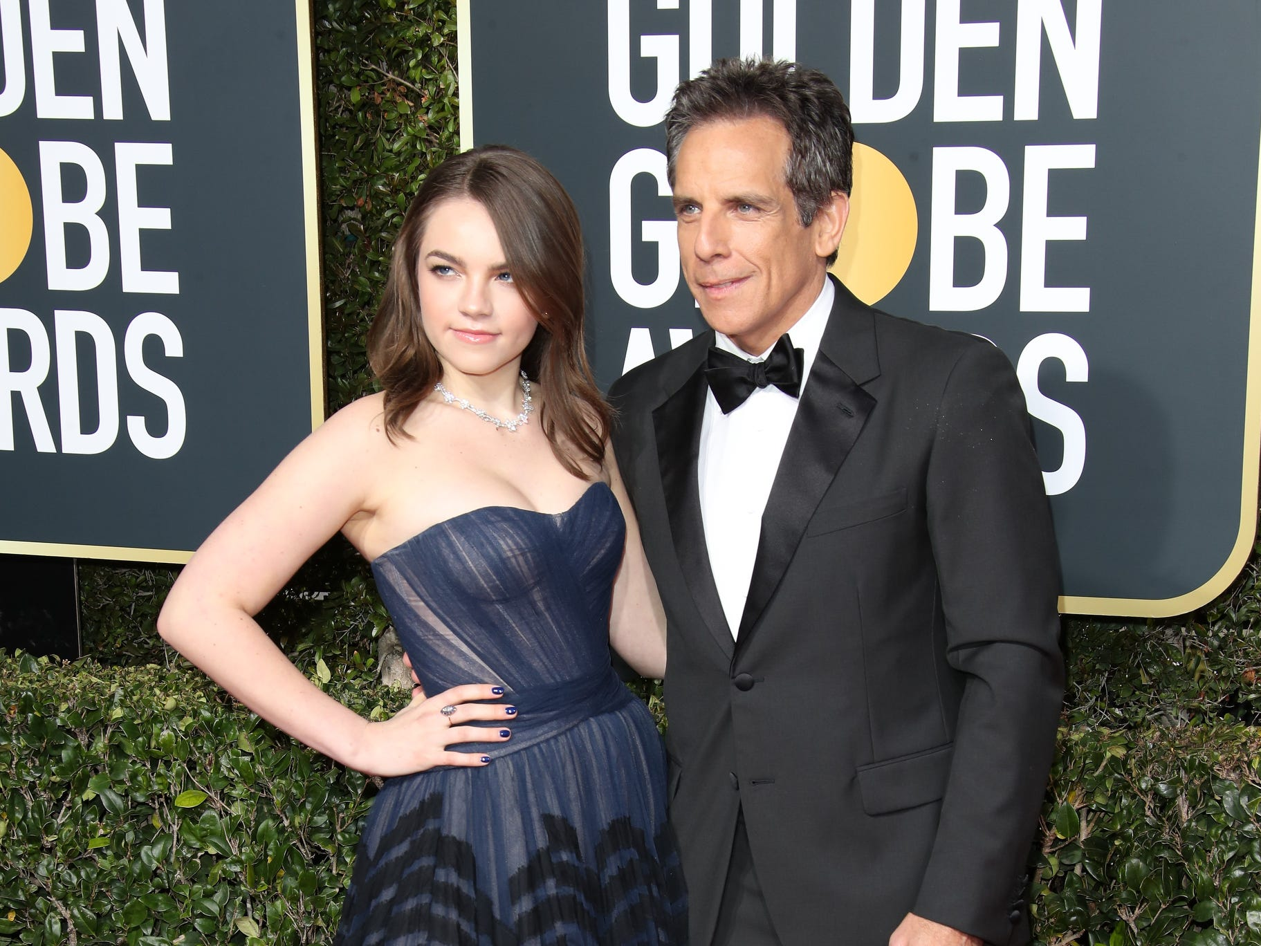 Ella and Ben Stiller