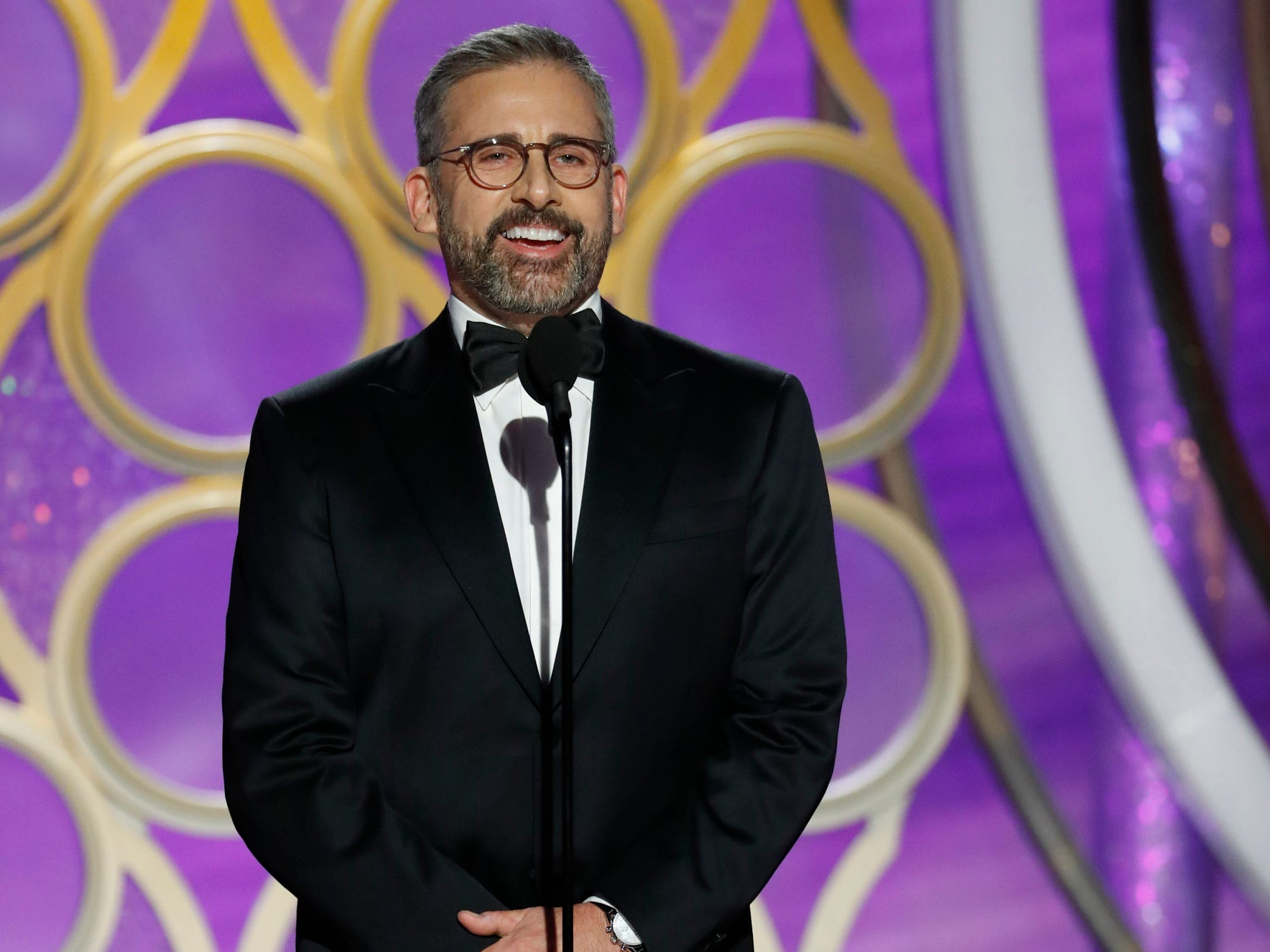 Steve Carell speaks onstage during the 76th Golden Globe Awards.