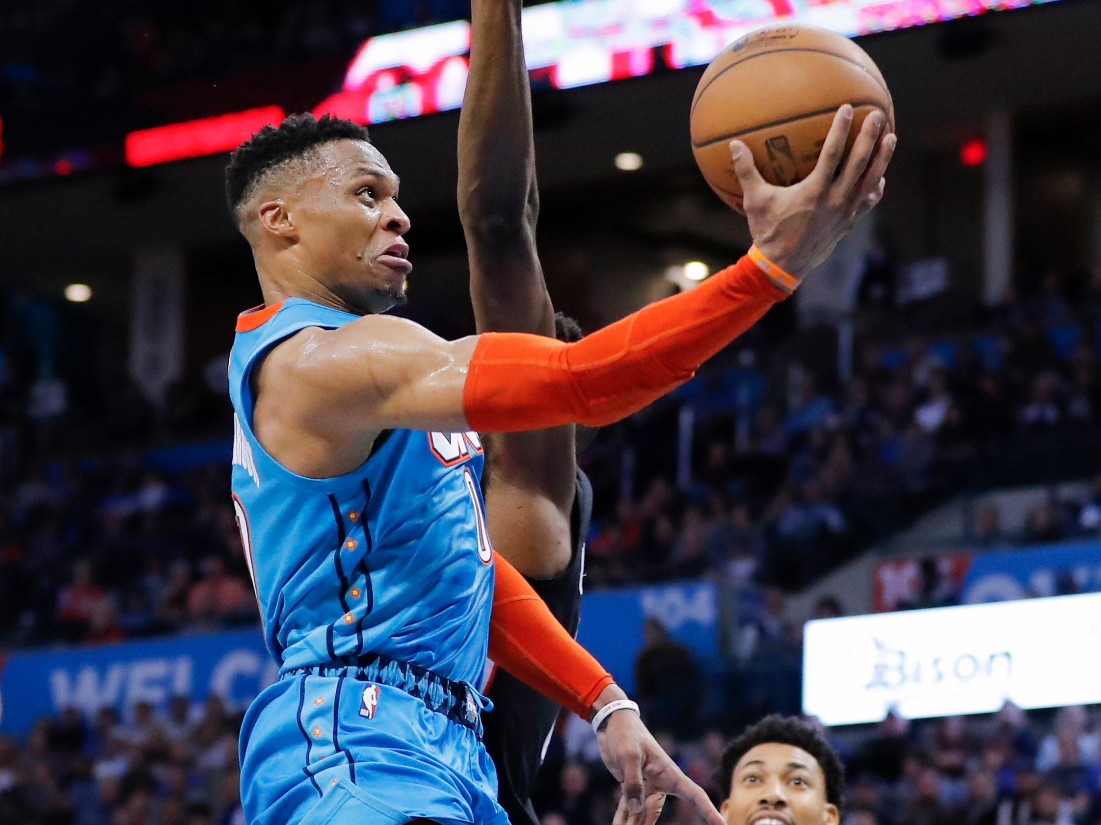 46. Russell Westbrook, Thunder (Jan. 6): 22 points, 15 rebounds, 13 assists in 116-98 loss to Wizards (12th of season).